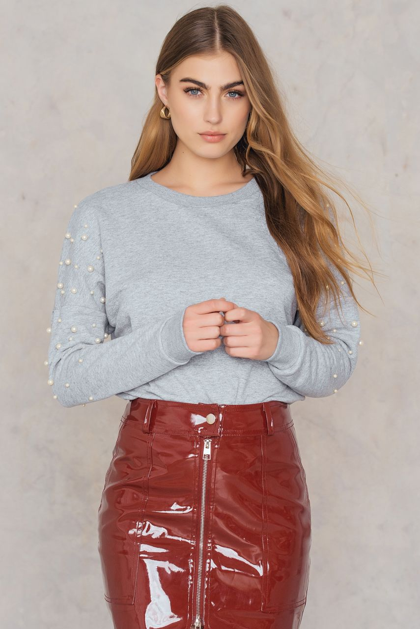 pearl emballished sweatshirt